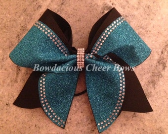 Rhinestone and Glitter Cheer Bow