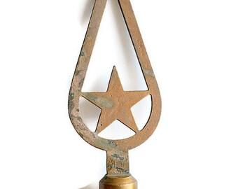 Vintage Soviet flagpole - Soviet Union star flagpole - Communists Symbols
