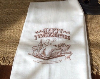 Happy Thanksgiving kitchen towel