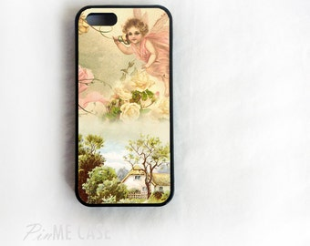 Little Fairy on Silicone Rubber or Plastic case cover for iPhone 6, 6+, 5/5s, 4/4s cover and Galaxy Note 5,4,3,2, Galaxy S6,S5,S4 Case Cover