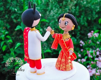 Indian Cake Topper With Super Hero