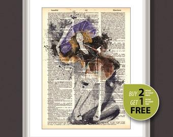 Vintage dictionary print, Vintage fashion art print, Fashion Illustration, fashion art, fashion wall art, Vogue art print, Home decor, 3725