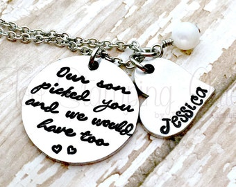 Wedding Gift | Wedding Necklace | Daughter In Law Necklace | Daughter In Law Gift | Personalized Wedding Gift | Bride Wedding Gift
