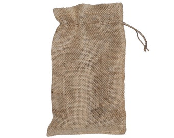 """6"""" X 10"""" Burlap Bags with Drawstring - Lot of 50"""