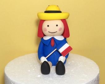 Fondant Madeline Cake Topper, Madeline fondant topper, Madeline in Paris
