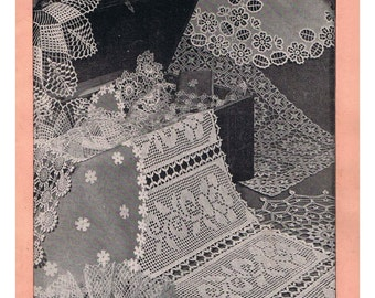 Free Vintage Crochet Table Runner Patterns : Pdf table runner Etsy