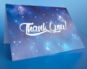 Outer Space Thank you card - Instant Download