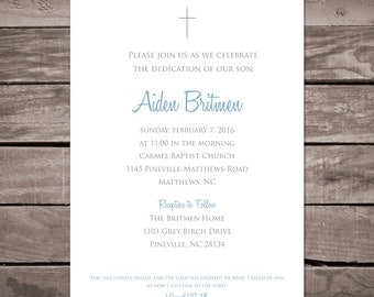 Simple, Clean Dedication Invitation
