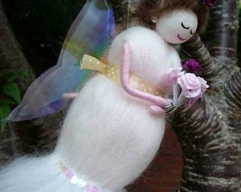 Wool Felt Fairy.  Beautiful Bride