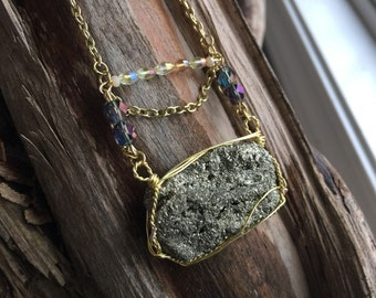 Pyrite Beaded Necklace