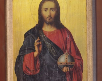 Christ Blessing Pantocrator.Christian orthodox icon.FREE SHIPPING