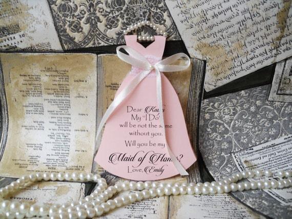 Will You Be My Bridesmaid Card  Bridesmaid Invitation  Wedding Party Greeting Card  Wedding Stationery  Bridesmaid Proposal