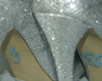 Something Blue, I Do Shoe Stickers, Bride Gift, Wedding Shoes, I Do Stickers for Shoes