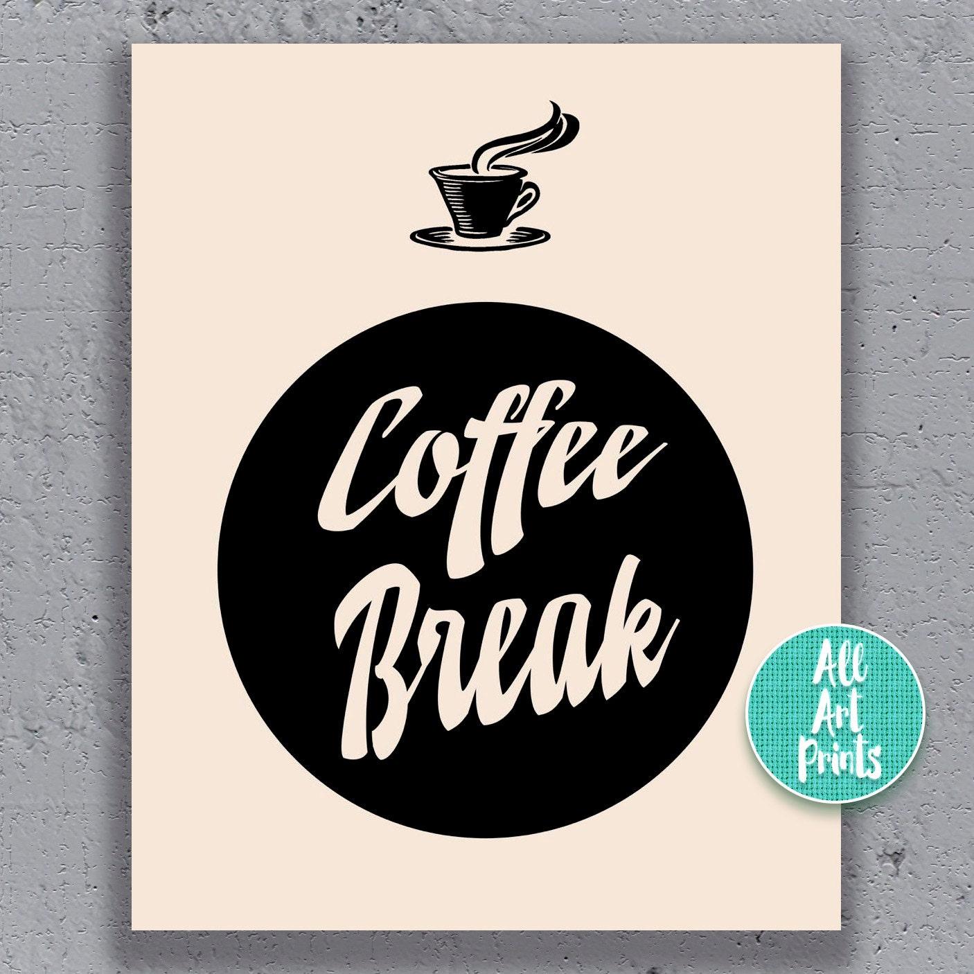 Kitchen Coffee Signs: Coffee Sign Retro Kitchen Print Retro Kitchen By AllArtPrints