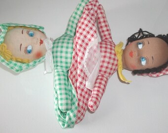 Vintage topsy turvy doll gifts for her, collectable dolls