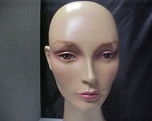 """Great old Woman Women's Mannequin Head Neck Display Hat wig necklace store display head 17"""" tall"""