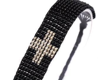 Peyote Stitch Bracelet with Cross - GLSBR037