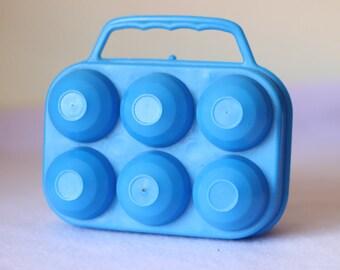 egg carton, plastic box egg, vintage box