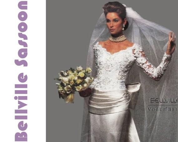 Bellville Sassoon Wedding Dress Pattern VOGUE 2799 FF Bust