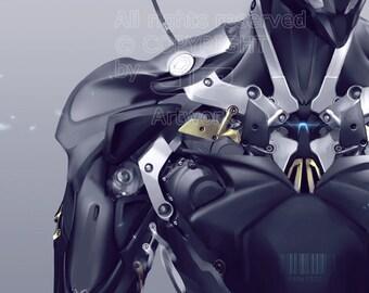 Robot Photobash-Experiment / Poster / digital download