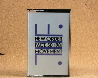 New Order - Movement Cassette Tape - Italian Recording - Factory Records - Vintage Music - Near Mint Condition