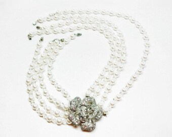 Girl Size Audrey Hepburn Pearl Necklace Breakfast at Tiffany's Costume Jewelry