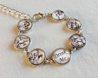Alice in Wonderland handmade image bracelet