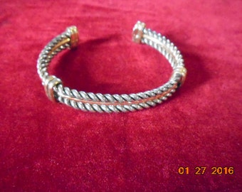 Vintage Silver and Gold mixed metal bracelet