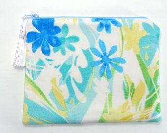 silk clutch, blue clutch, yellow clutch, bridesmaid gift, wedding purse, bridal clutch, brides purse, evening bag, jewelry pouch, cosmetic