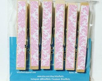 Decorative Pink Clothespins