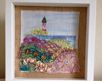 Beach print, coastal print, seaside art, nautical art, lighthouse art, ocean art, seaside decor, light house print, beach house decor,