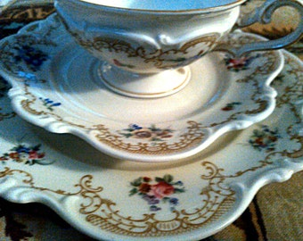 Free Shipping Hutschenreuther Cup and Saucer Trio