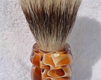 Beautiful Handmade Muddy Waters Badger Hair Shaving Brush
