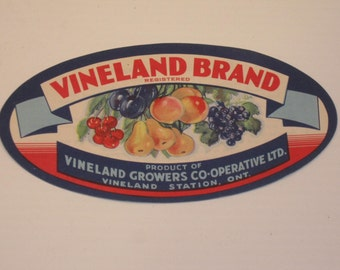 Vintage Fruit Box Label from Canada.