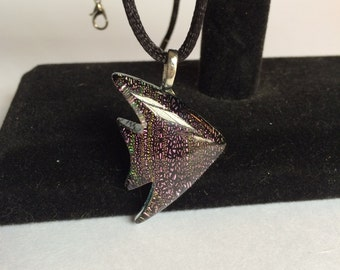 Pink Sunfish Dichroic Glass Pendant