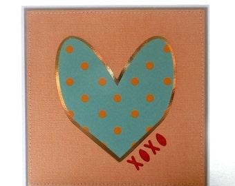 XOXO Handmade Card