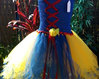 Snow White inspired tutu dress 4/8