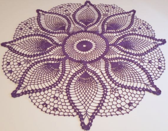 Free Crochet Patterns Round Table Toppers : Handmade Crochet Doily crochet table topper handmade doily