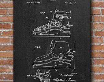 Ski Boots Patent Print, Ski Shoes Patent, Ski Boots Art, Ski Boots Decor, Patent Prints - DA0451