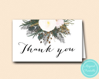 Printable Thank You Cards, Tent Style Thank You, White Bridal Shower Favors, Wedding Thank You, Favor Cards BS437 TLC437 SN437 MP