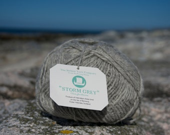 Hebridean & Cheviot Blended pure wool Light Aran knitting yarn: Glas-ghailleann - Storm grey