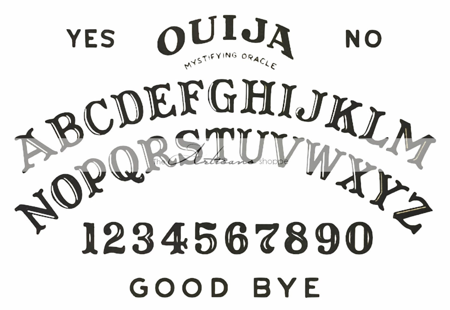 It is an image of Wild Printable Ouija Board