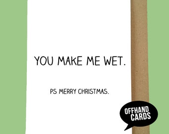 Funny, Rude Christmas Card, Love Card, Xmas, LGBT, Husband/Boyfriend Card, Funny, Mature. Ships Worldwide from UK, 1st Class UK Postage.