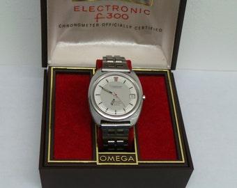 Omega constellation f300Hz chronometer in original Box, Circa 1979