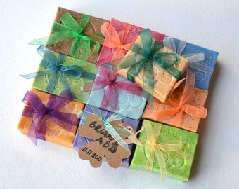 100 WEDDING GIFT SOAP - Party Favor - Wedding  Guest Gift - Wedding Gift Mix Soap  - Homemade Wedding Party Gift Soap - Dhl Express Shipping