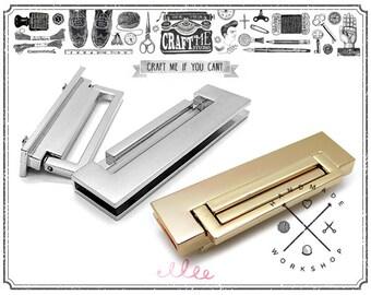 METAL Bar Lock with Flip Closure Purse Lock 1 pc - Premium Quality