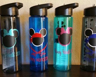 Personalize water bottle, Disney World, Custom Tumbler, Personalized Water Bottle, 24 oz Personalized tumbler, drink water