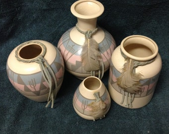 Native American Pottery Hand Painted in Tucson Arizona