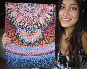Roots Take Hold Mandala Dot Painting 12x16