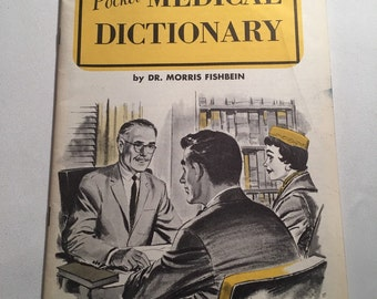 1957 Pocket Medical Dictionary Pamphlet